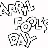 April fools, April Fools Day On First April Coloring Page: April Fools Day on First April Coloring Page