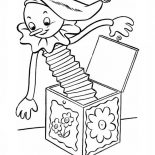 April fools, April Fools Day With Jack In The Box Coloring Page: April Fools Day with Jack in the Box Coloring Page