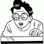 Archie, Archie Comics Character Dilton Doiley Coloring Page: Archie Comics Character Dilton Doiley Coloring Page