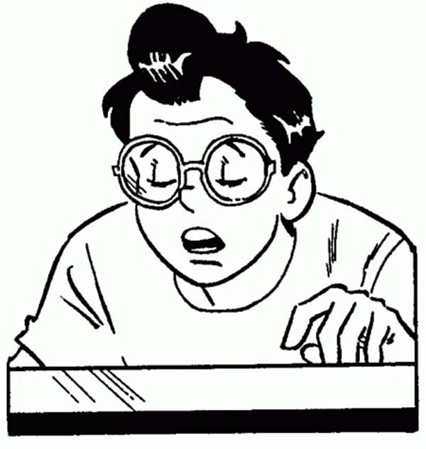 Archie, : Archie Comics Character Dilton Doiley Coloring Page