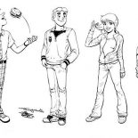 Archie, Archie Comics Characters Coloring Page: Archie Comics Characters Coloring Page