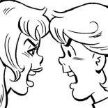 Jughead Eating Hamburger In Archie Comics Coloring Page Color Luna