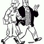 Archie, Archies Teacher In Archie Comics Coloring Page: Archies Teacher in Archie Comics Coloring Page
