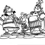 Asterix, Asterix And Obelix In Asterix The Legionary Coloring Page: Asterix and Obelix in Asterix the Legionary Coloring Page