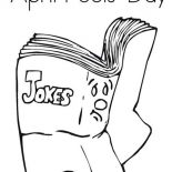 April fools, Book For April Fools Day Coloring Page: Book for April Fools Day Coloring Page