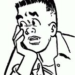Archie, Chuck Clayton Thinking In Archie Comics Coloring Page: Chuck Clayton Thinking in Archie Comics Coloring Page