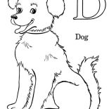 Dogs, D Is For Dog Coloring Page: D is for Dog Coloring Page