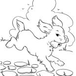 Dogs, Dog Eats Delicous Bone Coloring Page: Dog Eats Delicous Bone Coloring Page