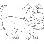 Dogs, Dog Love Eating Bone Coloring Page: Dog Love Eating Bone Coloring Page
