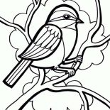 Birds, Drawing A Little Cute Bird Coloring Page: Drawing a Little Cute Bird Coloring Page