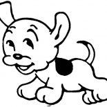Dogs, Funny Little Dog Coloring Page: Funny Little Dog Coloring Page