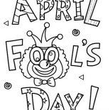 April fools, Happy April Fools Day Coloring Page: Happy April Fools Day Coloring Page
