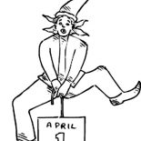 April fools, Happy April Fools Day For Everybody Coloring Page: Happy April Fools Day for Everybody Coloring Page