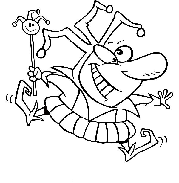 April fools, : Happy Silly Face on April Fools Day Coloring Page