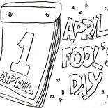 April fools, Lets Put Everyone On Joke On April Fools Day Coloring Page: Lets Put Everyone on Joke on April Fools Day Coloring Page