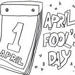 April fools, Lets Put Everyone On Joke On April Fools Day Coloring Page: Lets Put Everyone on Joke on April Fools Day Coloring Page