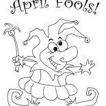 April fools, Look Out For April Fools Day Coloring Page: Look Out for April Fools Day Coloring Page