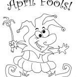 April fools, Look Out For April Fools Day Coloring Page: Look Out for April Fools Day Coloring Page