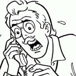 Archie, Mr Hiram Lodge Is Panic In Archie Comics Coloring Page: Mr Hiram Lodge is Panic in Archie Comics Coloring Page