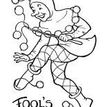 April fools, Picture Of April Fools Day Coloring Page: Picture of April Fools Day Coloring Page