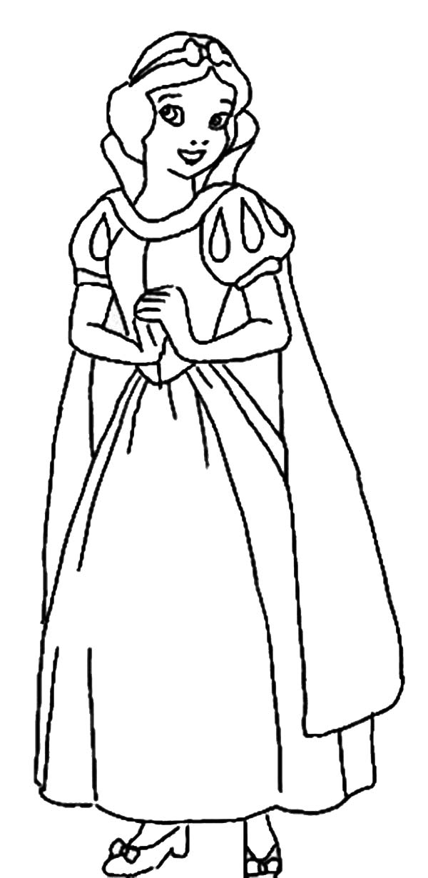Snow White, : Snow White Coloring Page for Kids
