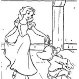 Snow White, Snow White Dance With Dwarf Coloring Page: Snow White Dance with Dwarf Coloring Page