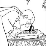 Snow White, Snow White Kissed By The Prince Coloring Page: Snow White Kissed by the Prince Coloring Page