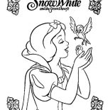 Snow White, Snow White Movie Poster Coloring Page: Snow White Movie Poster Coloring Page
