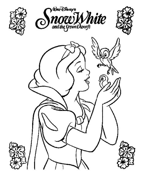 Snow White, : Snow White Movie Poster Coloring Page