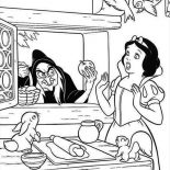 Snow White, Snow White Is Surprised To See Witch At Her Window Coloring Page: Snow White is Surprised to See Witch at Her Window Coloring Page