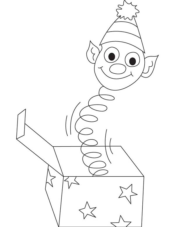 April fools, : Suprise in a Box on April Fools Day Coloring Page