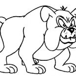 Dogs, Terrifying Bull Dog Coloring Page: Terrifying Bull Dog Coloring Page