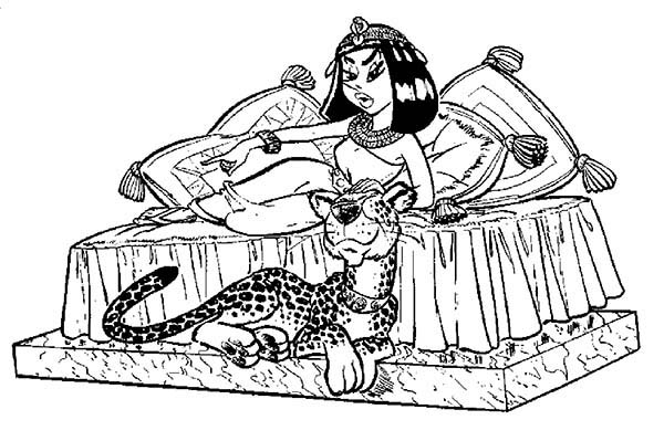 Asterix, : The Adventure of Asterix and Cleopatra Coloring Page