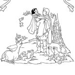 Snow White, The Prince Want To Take Snow White To His Castle Coloring Page: The Prince Want to Take Snow White to His Castle Coloring Page