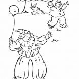 April fools, Three Clowns On April Fools Day Coloring Page: Three Clowns on April Fools Day Coloring Page