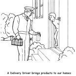 Labor Day, A Delivery Milk Man In Labor Day Coloring Page: A Delivery Milk Man in Labor Day Coloring Page