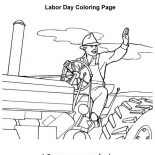 Labor Day, A Farmer Grows Out Food In Labor Day Coloring Page: A Farmer Grows Out Food in Labor Day Coloring Page