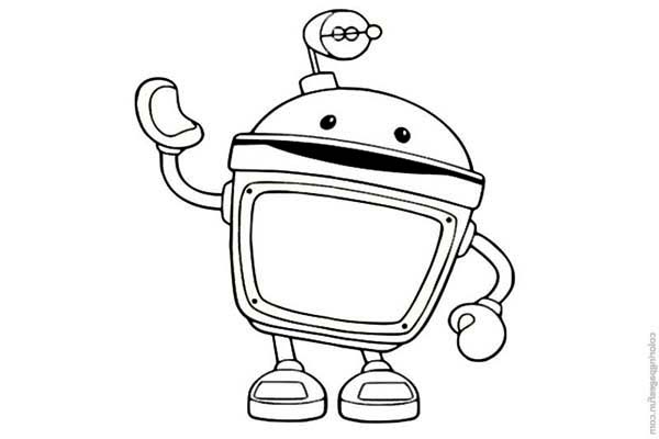 Team Umizoomi, : Amazing Bot from Team Umizoomi Coloring Page
