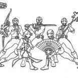 Power Rangers, Amazing Power Rangers Samurai Coloring Page: Amazing Power Rangers Samurai Coloring Page