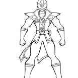 Power Rangers, Amazing Red Ranger In Power Rangers Super Samurai Coloring Page: Amazing Red Ranger in Power Rangers Super Samurai Coloring Page