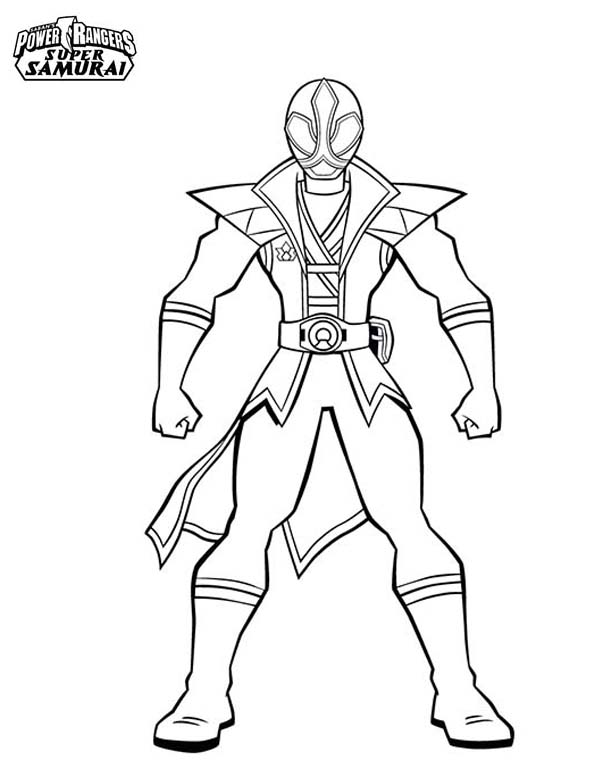 Power Rangers, : Amazing Red Ranger in Power Rangers Super Samurai Coloring Page