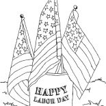 Labor Day, American Labor Day Coloring Page: American Labor Day Coloring Page