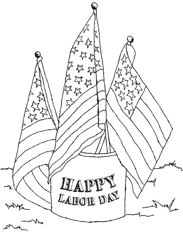 Labor Day, : American Labor Day Coloring Page
