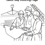 Labor Day, An Engineer And Construction Workers Build Buildings In Labor Day Coloring Page: An Engineer and Construction Workers Build Buildings in Labor Day Coloring Page