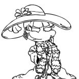Rugrats, Angelica Fancy Dressing In Rugrats Coloring Page: Angelica Fancy Dressing in Rugrats Coloring Page