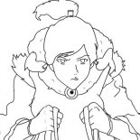 The Legend of Korra, Avatar Korra Is In Hurry Coloring Page: Avatar Korra is in Hurry Coloring Page