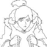 The Legend of Korra, Avatar Korra Is In Hurry Coloring Page: Avatar Korra is in Hurry Coloring Page