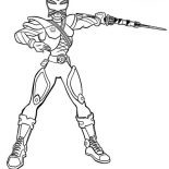Power Rangers, Awesome Pink Ranger In Power Rangers Samurai Coloring Page: Awesome Pink Ranger in Power Rangers Samurai Coloring Page