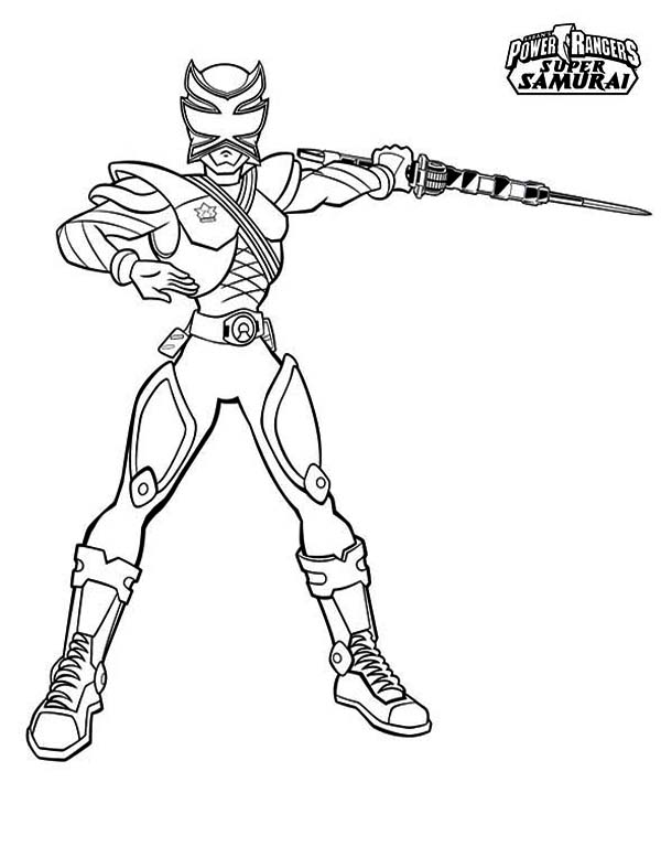Power Rangers, : Awesome Pink Ranger in Power Rangers Samurai Coloring Page