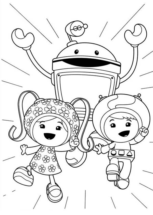 Team Umizoomi, : Awesome Team Umizoomi Coloring Page